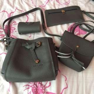 •brandnew• 4 in 1 Grey Sling Bag