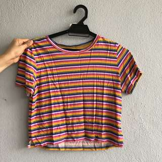Monki Rainbow Top/Tshirt