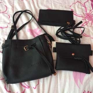 •brandnew• 3 in 1 Black Sling Bag