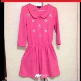 $89 Pink Crystal Gems Princess Dress From London (Brand New)