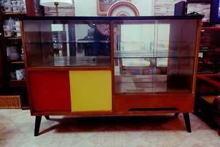 vintage K leg display cabinet