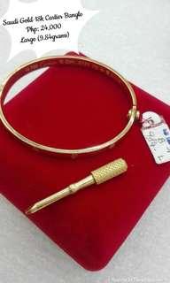 Saudi Gold 18K Cartier Bangle Large