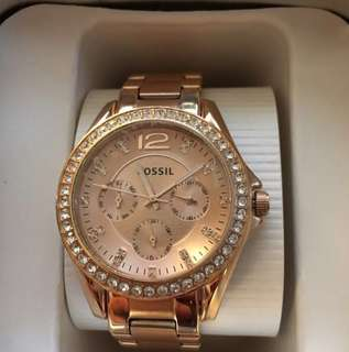 Fossil Riley Rose Gold Watch (Authentic)