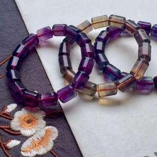 彩螢石.分別是紫螢石和黃螢石 purple yellow Fluorite crystal quartz