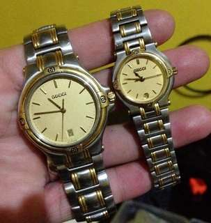 Authentic preloved Gucci watch His and Hers