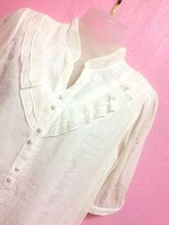 Formal White Blouse