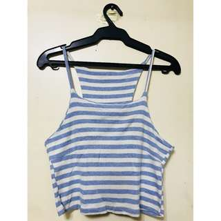 Baby Blue Stripes Sleeveless