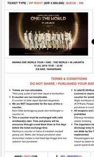 Wannaone Concert Jakarta Tix VIP RIGHT