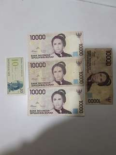 Indonesia 1964,1998 old banknotes
