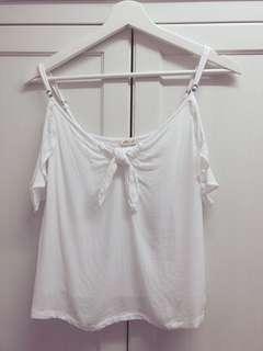 Hollister 白色吊帶背心