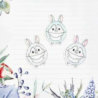 Ufufy Inspired DIY Bunny Stickers (RM3 for 6)