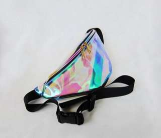 Pre order Rainbow transparent fanny pack