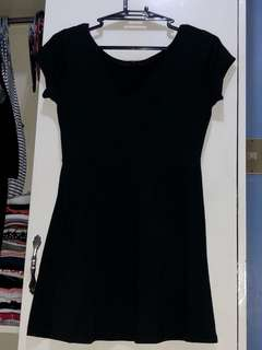 cotton on black skater dress