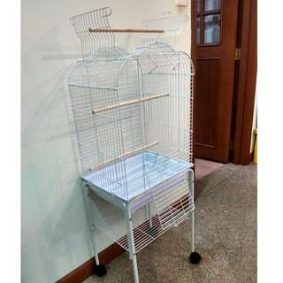 SOLD! White Open-top Cage for small to medium parrots