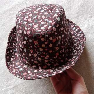 Floral Print Cowboy Casual Hat