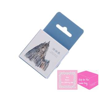 Set of 45pcs The Famous Monuments In The World Sticker Pack