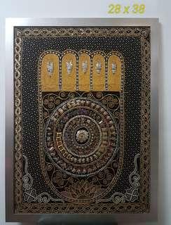 Buddha Footprint Tapestry Wall Hanger