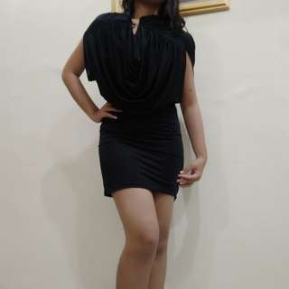 Blach mini dress