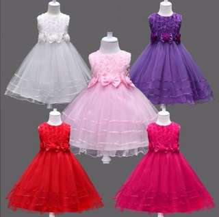 Girls sleeveless princess dress