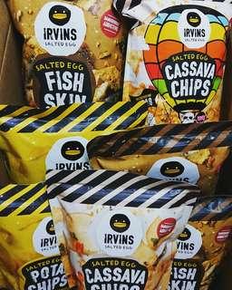(現貨) irvins鹹蛋魚皮/薯片/木薯片