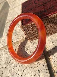 瑪瑙手鐲 火紅圓條瑪瑙 red Agate Bangle dia: 57-62mm