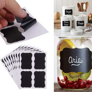 🚛🚛 FREE MAILING 🚛🚛 36pcs/set Blackboard Sticker Craft Kitchen Jars Organizer Labels Chalkboard Chalk Board Sticker 5cm x 3.5cm Black Board