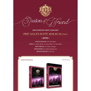 [PREORDER] GFRIEND (여자친구) - 2018 GFRIEND FIRST CONCERT [Season of GFRIEND] DVD