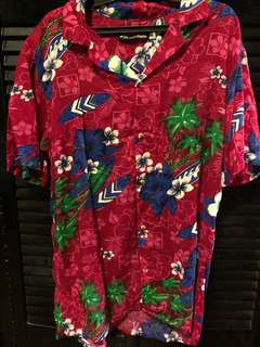 Cuban Floral Hawaian Polo