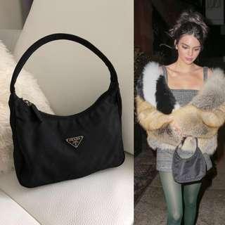 💯真品 Auth Prada mini handbag 黑色小手袋 Kendall Jenner 同款