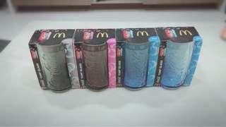 🚚 麥當勞2011 可口可樂 罐形玻璃杯-天空藍