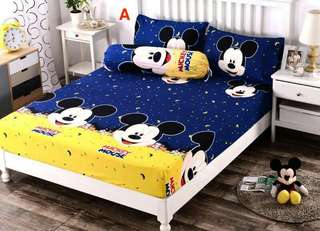 Bedsheet - Queen Flitted ( Mickey Mouse )