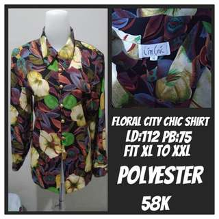 Baju Kemeja Floral Fit City Chic Fit XL to XXL