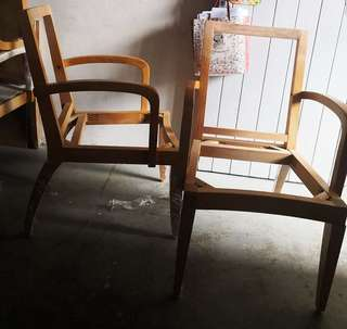Wooden dining arm chair frame only