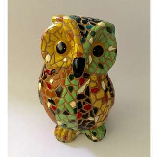 Mosaic Owl Art Sculpture