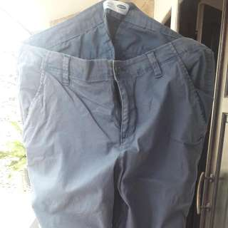 celana old navy slim fit biru no pocket