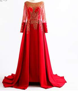 (PO) Wedding Gown/partywear gown..(high quality)code (300)