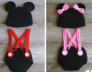 Crochet Mickey and Minnie Mouse Set 👶💖