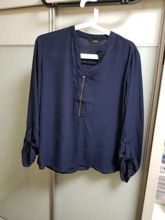 Almost new IORA dark blue shirt