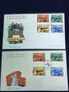 China Stamp-  1989 J163 A/B FDC