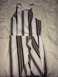 Stripy middy dress