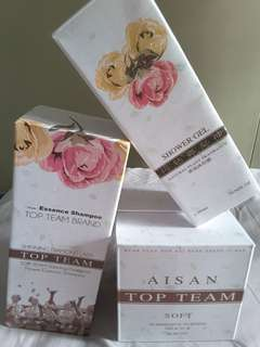 Aisan Top Team Shampoo + Hair Mask + Showel Gel [Set]