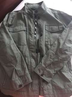 Green army jacket size - large but fits like a medium