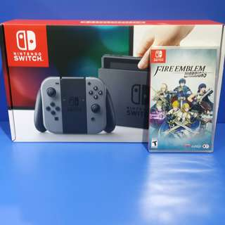Nintendo switch with Fire Emblem Warriors