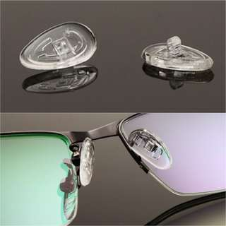 SILICON NOSE PAD OAKLEY RAYBAN SPECTACLES GLASSES $2.50/2 PAIR INCLUSIVE POSTAGE - ALL SIZE SCREWS AVAILABLE