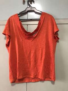 Zara - orange linen shirt