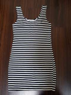 Almost new basic strip long singlet top