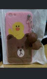 Case oppo F3 brown line