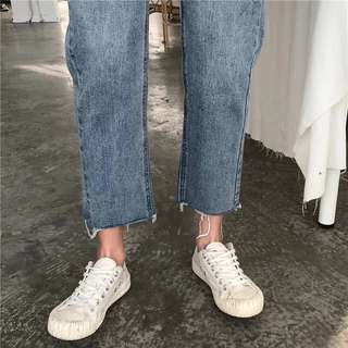 🚚 高腰牛仔寬褲