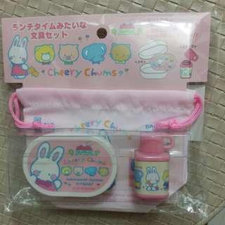 $79 Cherry Chums 印仔 食物盒 水壺 索袋 便條 紙仔  Sanrio Characters