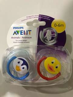 [FREE MAIL]BN Philips Avent Pacifiers 0-6m